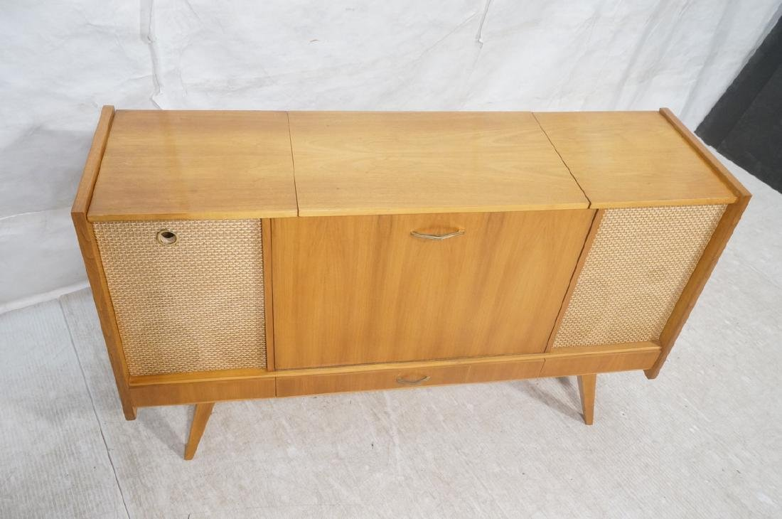 Mid Century Modern Blond Wood Stereo Cabinet. Two - 3