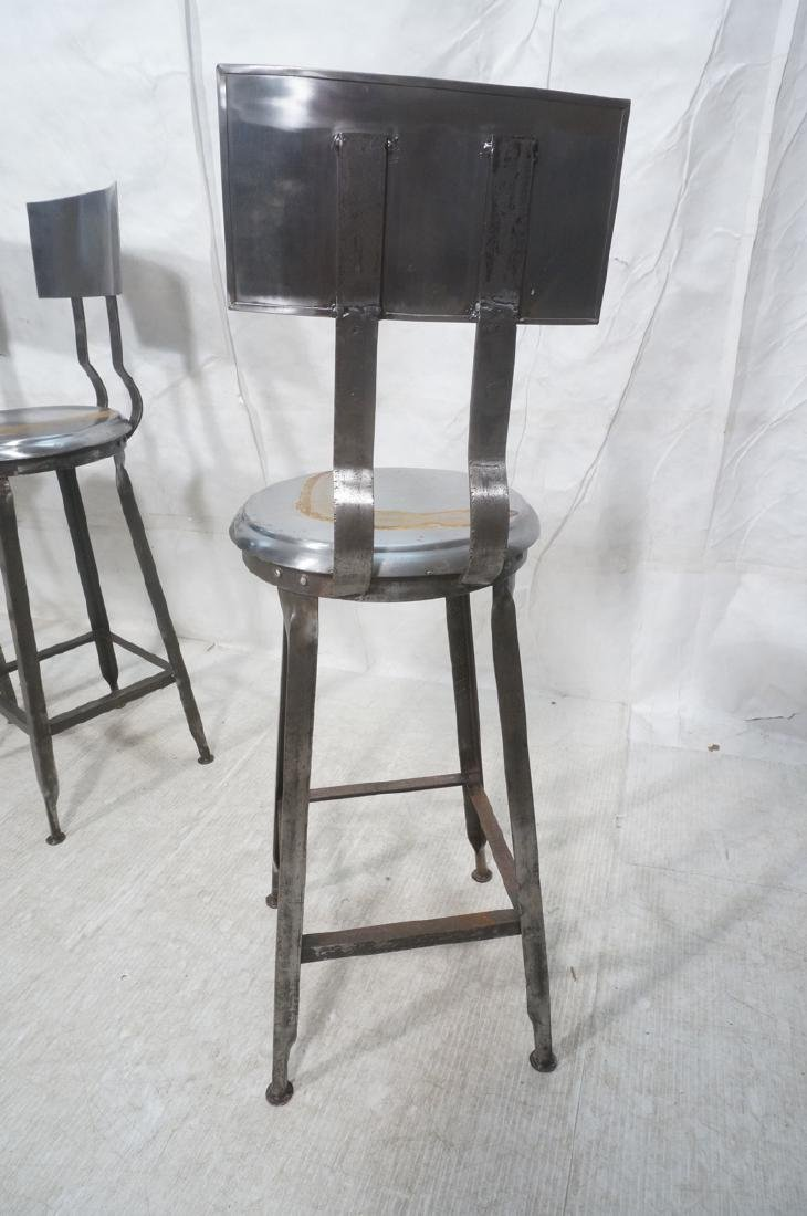 Lot 3 Welded Steel Stools. Pr of round seat stool - 4
