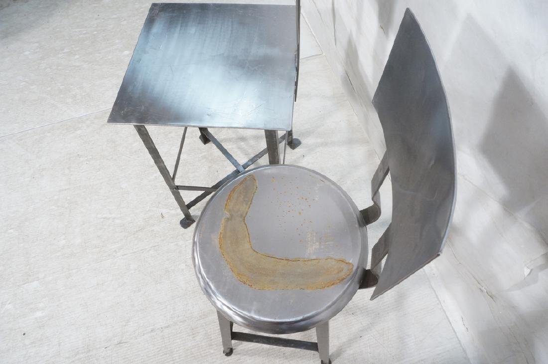 Lot 3 Welded Steel Stools. Pr of round seat stool - 7