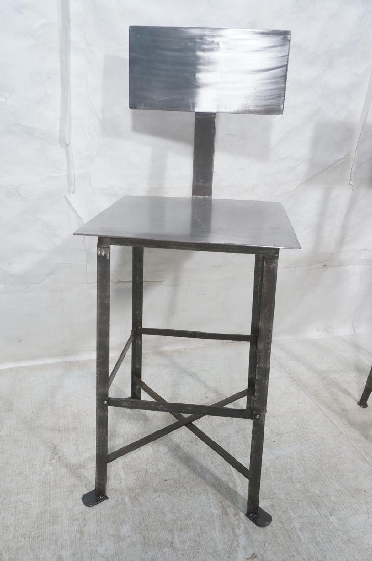 Lot 3 Welded Steel Stools. Pr of round seat stool - 9