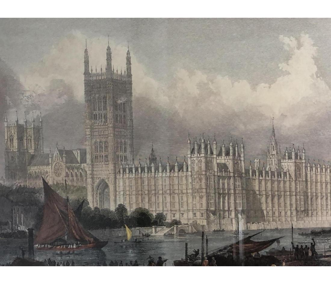 6pc English Architectural Vintage Prints. Houses - 15