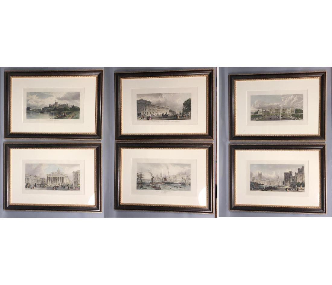 6pc English Architectural Vintage Prints. Houses