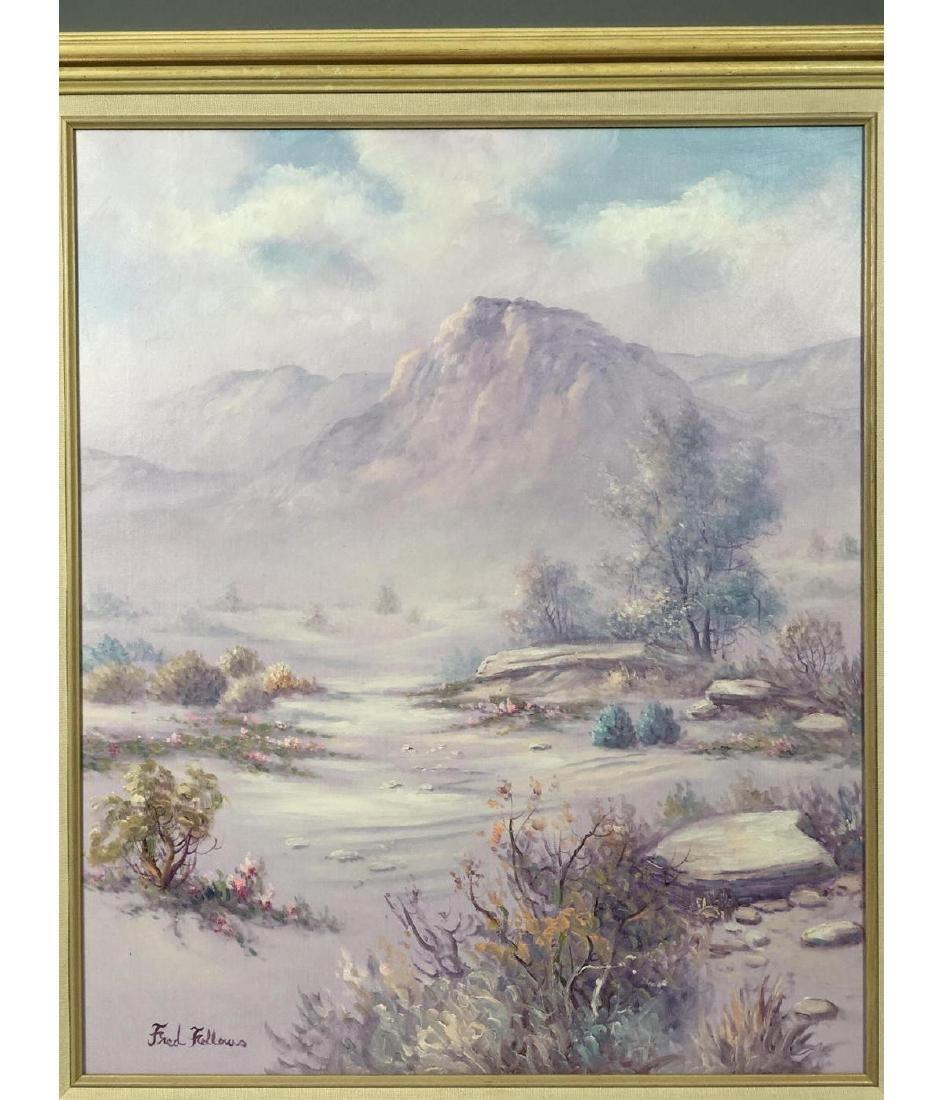 FRED FELLOWS Mountainous Landscape Painting. Purp - 2