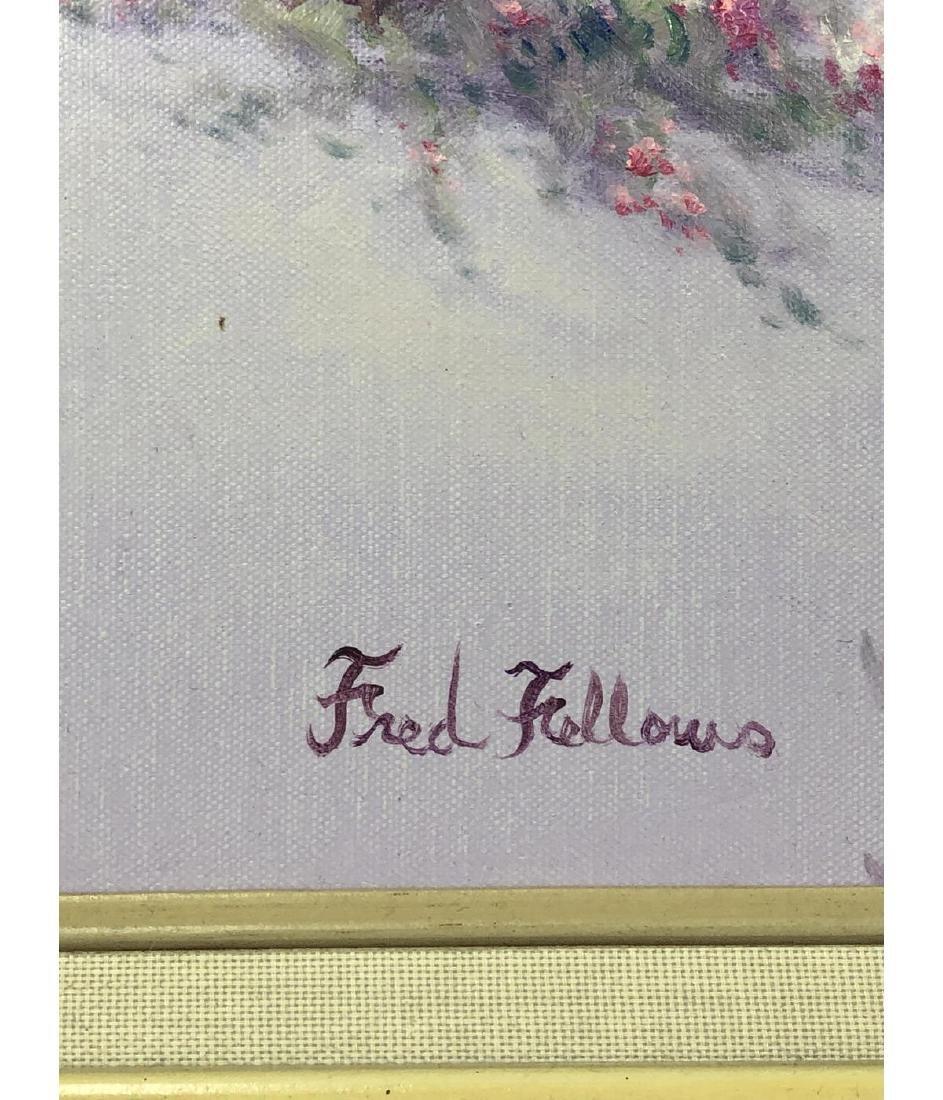 FRED FELLOWS Mountainous Landscape Painting. Purp - 3