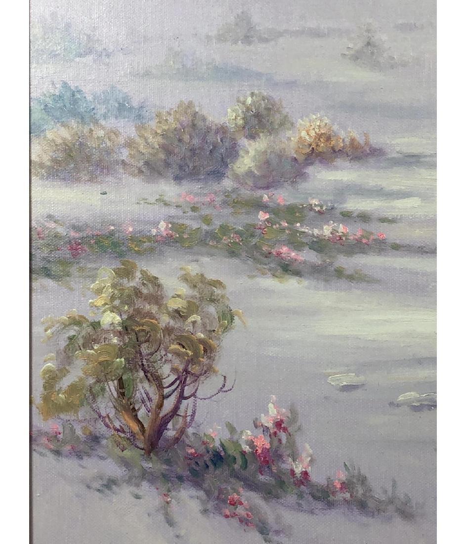 FRED FELLOWS Mountainous Landscape Painting. Purp - 4
