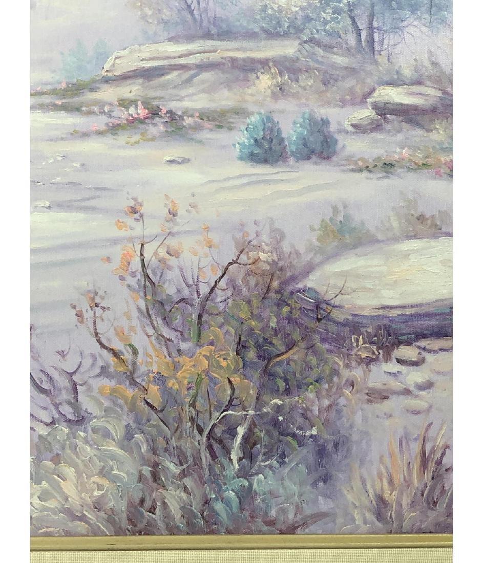 FRED FELLOWS Mountainous Landscape Painting. Purp - 5