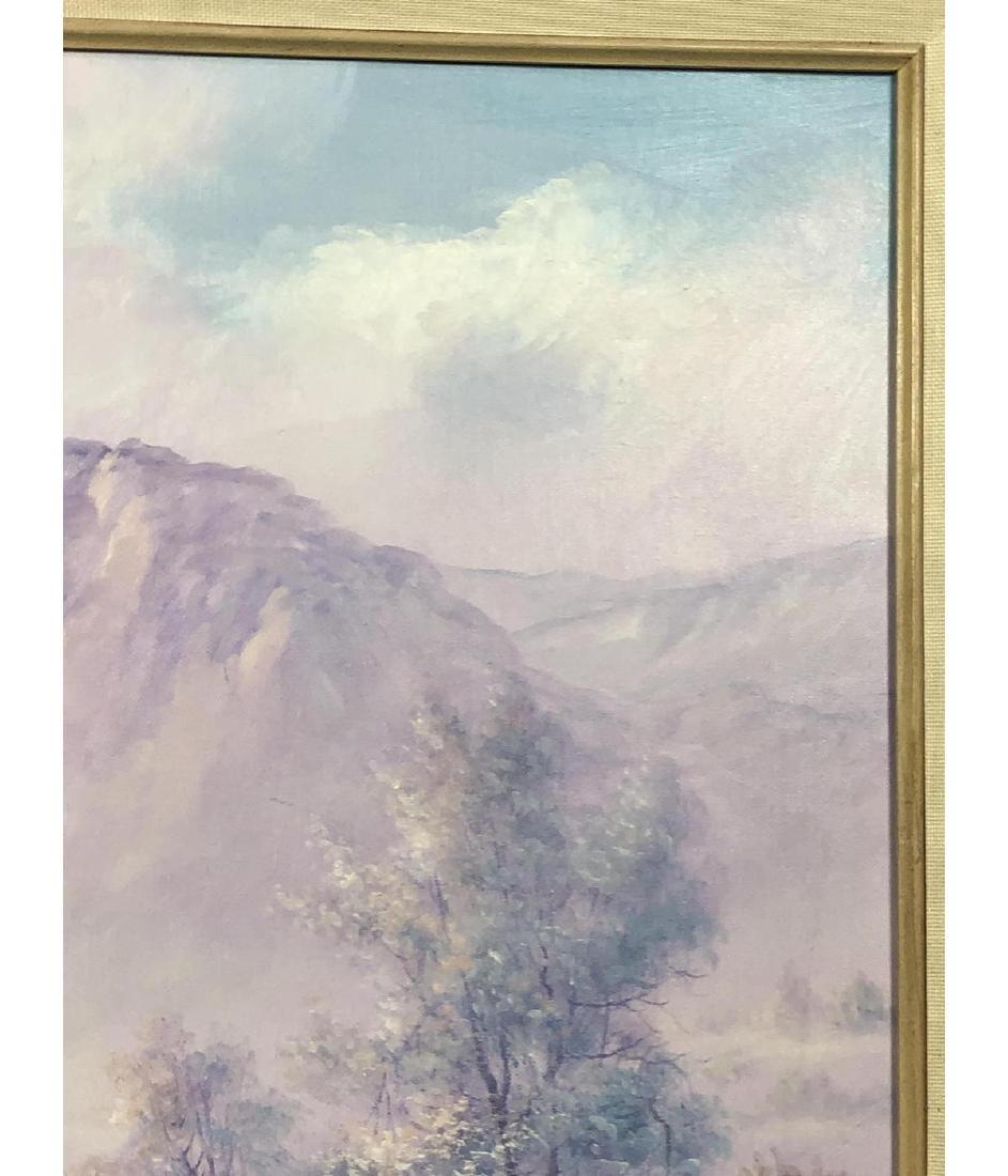 FRED FELLOWS Mountainous Landscape Painting. Purp - 6