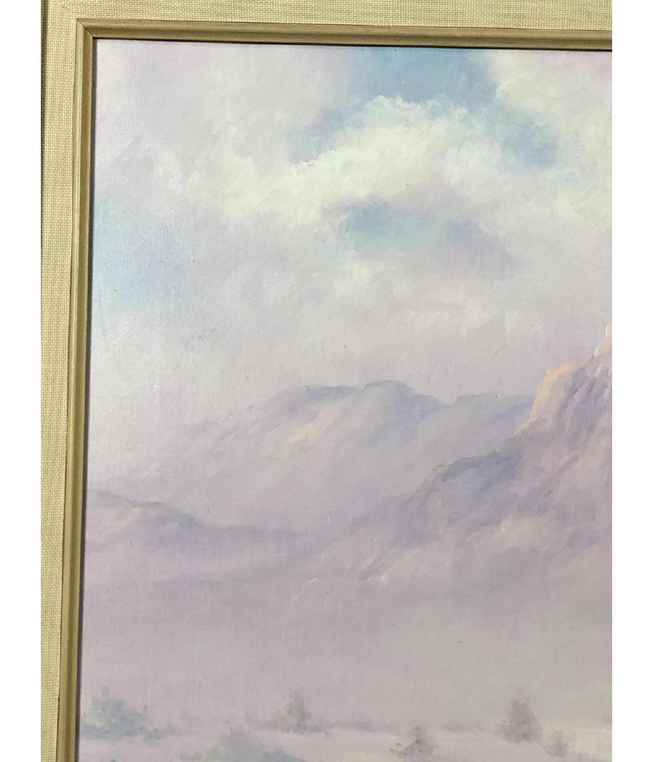 FRED FELLOWS Mountainous Landscape Painting. Purp - 7