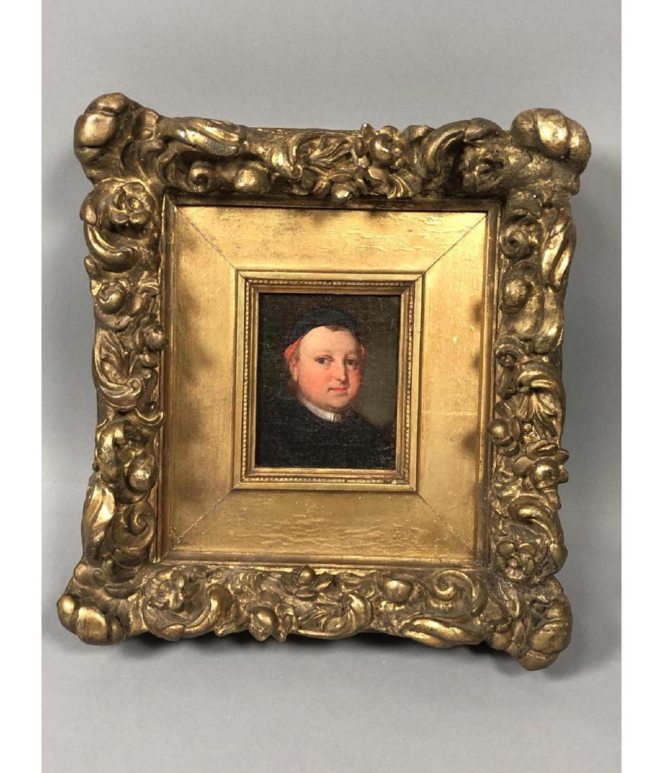Vintage Portrait Oil Painting. Portrait of man in