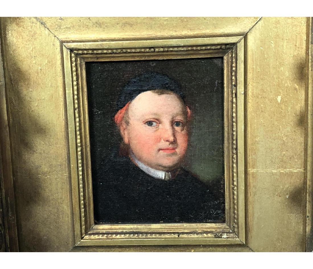 Vintage Portrait Oil Painting. Portrait of man in - 7