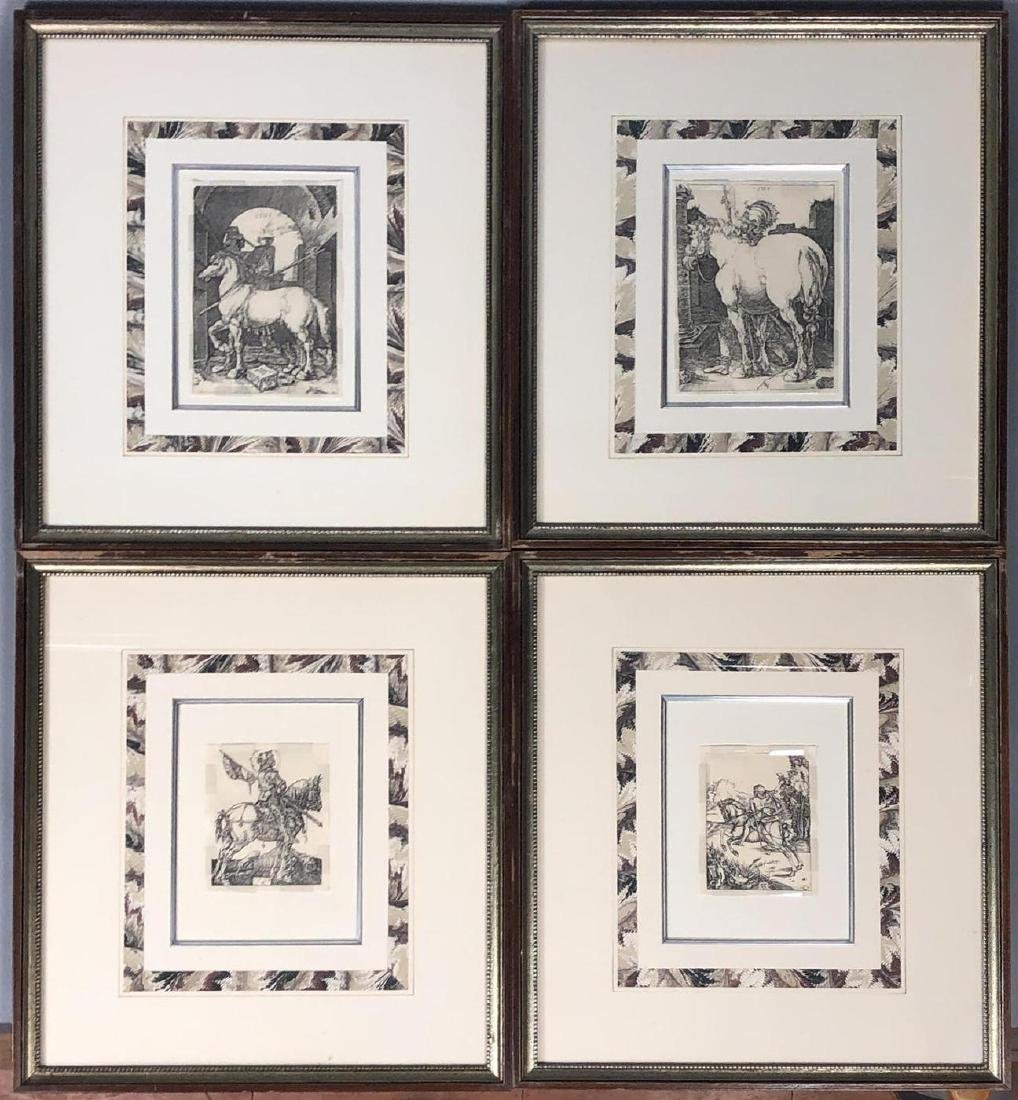 4 Early Bookplate Prints. Horse and Equestrian pr
