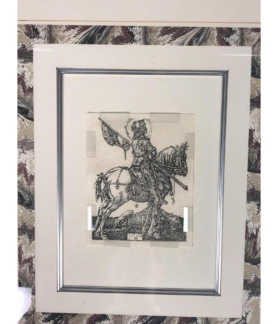 4 Early Bookplate Prints. Horse and Equestrian pr - 2