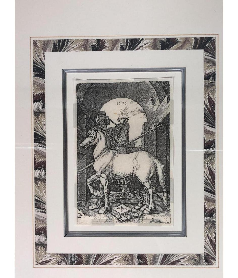 4 Early Bookplate Prints. Horse and Equestrian pr - 3