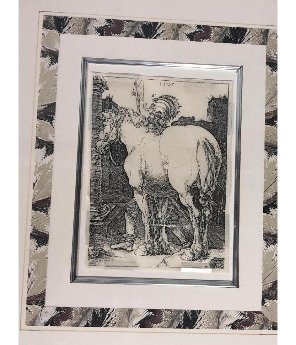 4 Early Bookplate Prints. Horse and Equestrian pr - 4