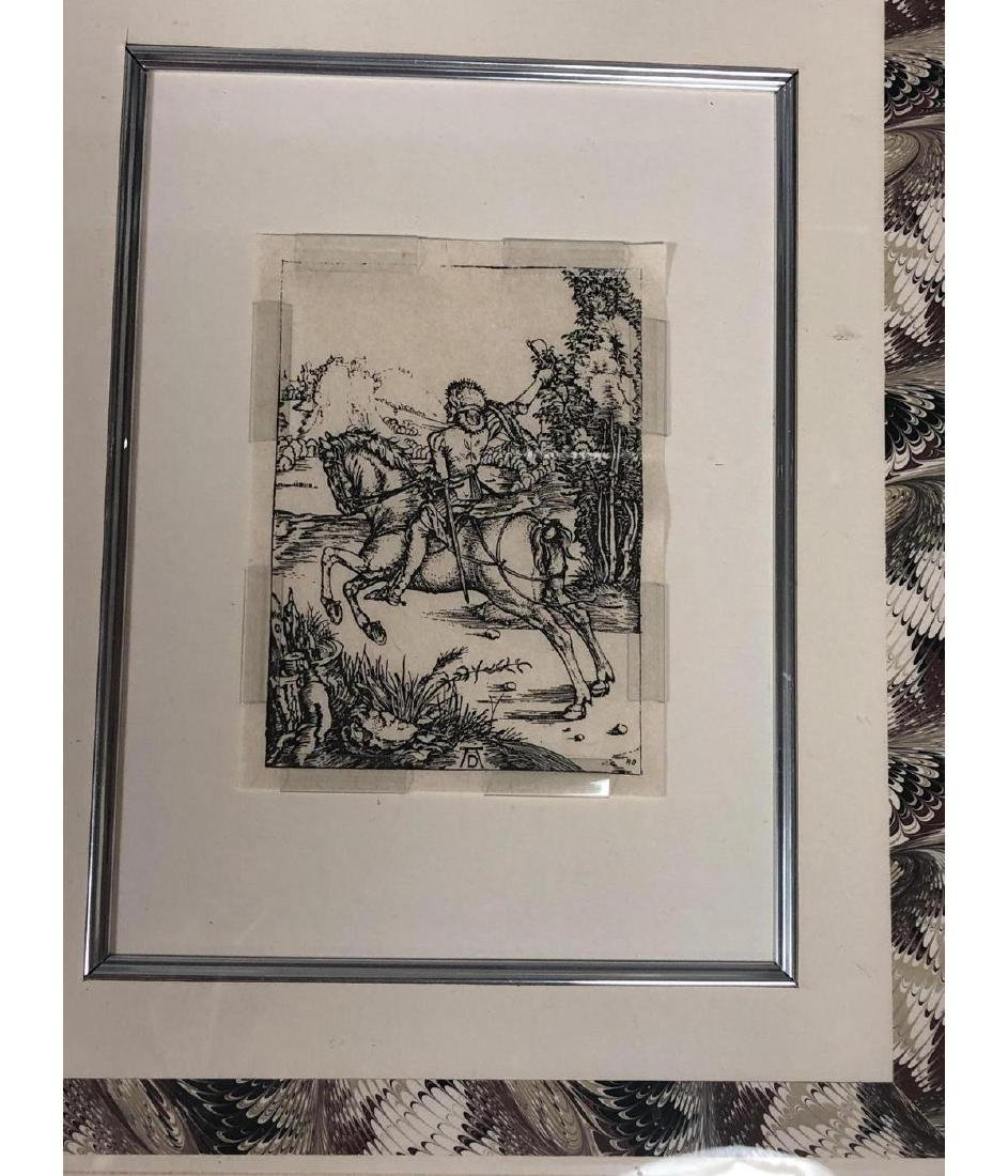 4 Early Bookplate Prints. Horse and Equestrian pr - 5