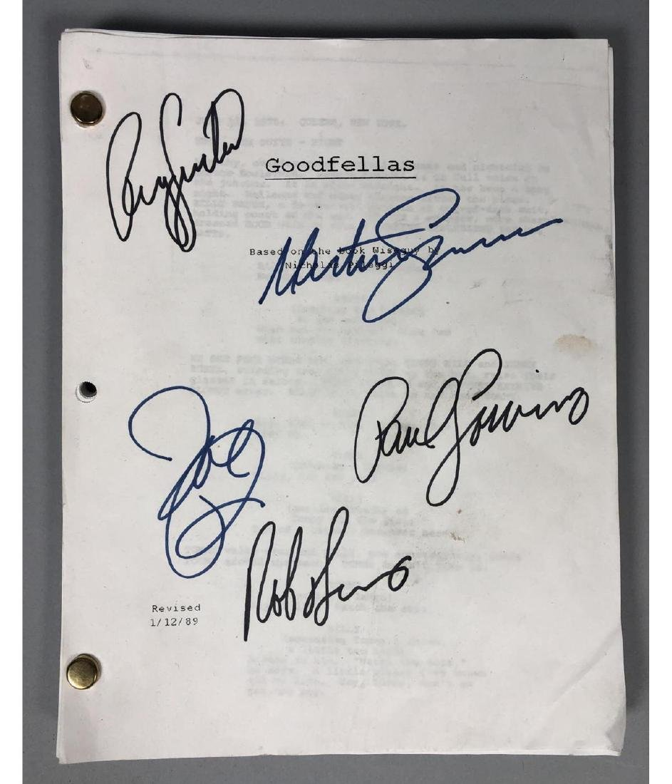 GOODFELLAS Screenplay by Nicholas Pileggi. Direct