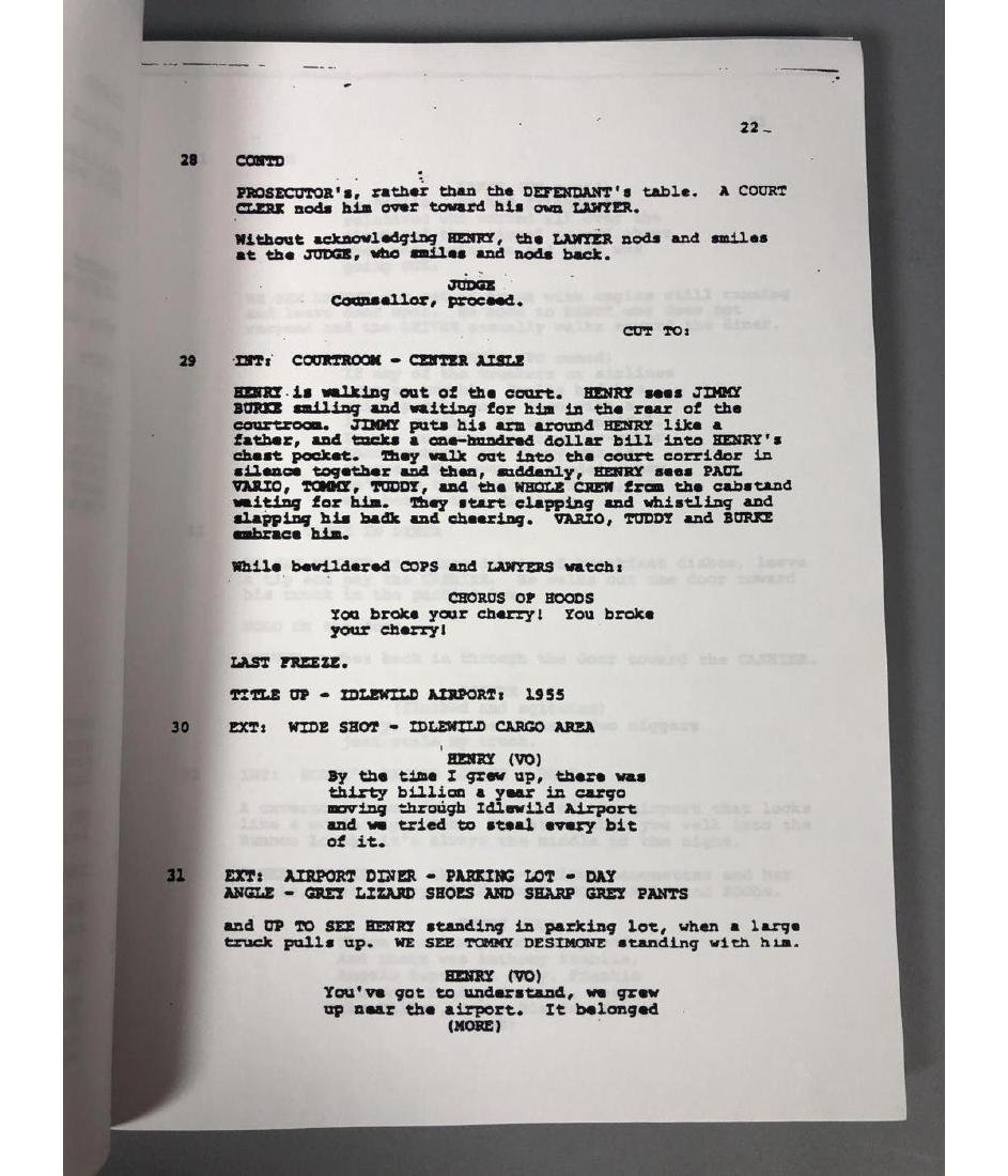 GOODFELLAS Screenplay by Nicholas Pileggi. Direct - 7