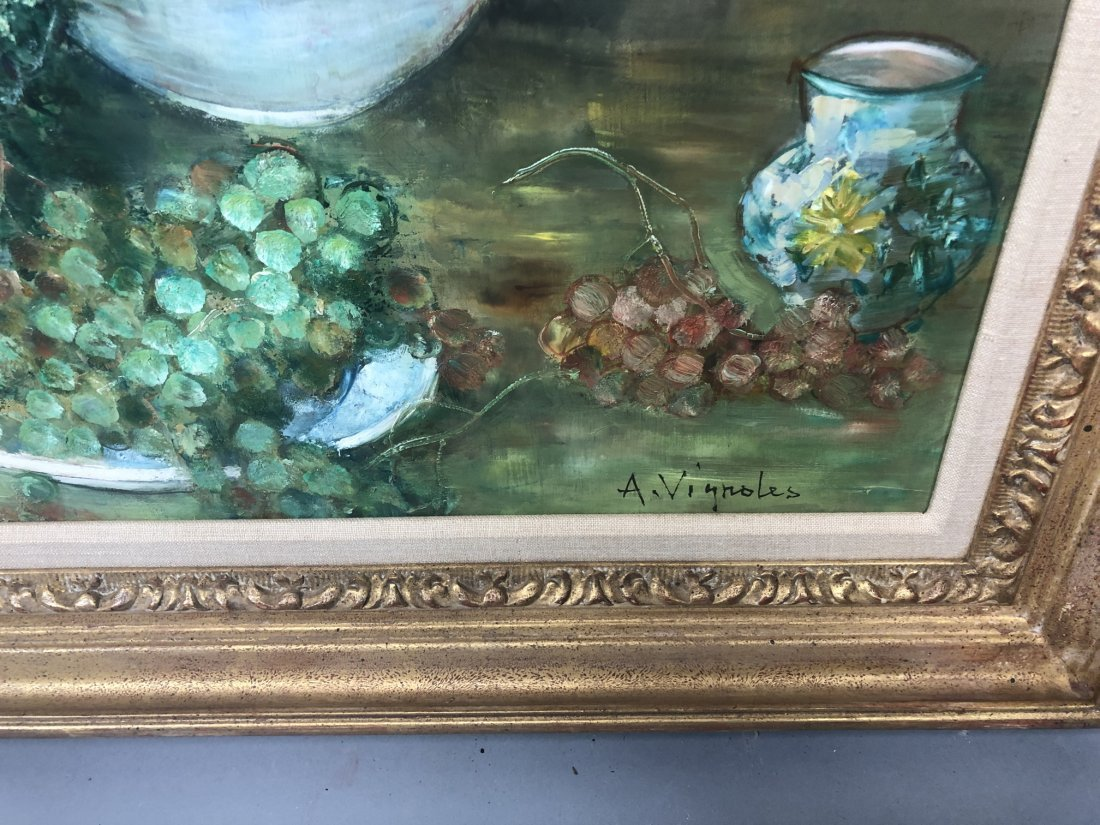 A. VIGNOLES Colorful Still Life Painting with pea - 2