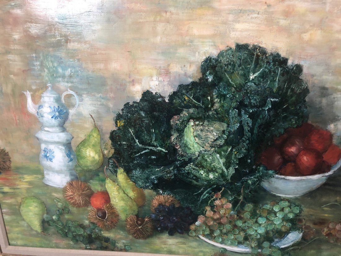 A. VIGNOLES Colorful Still Life Painting with pea - 3