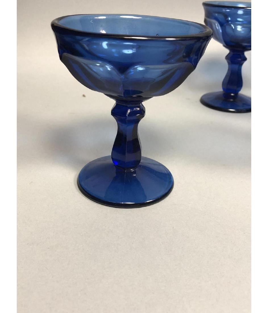 22pc Antique Cobalt Glasses Stemware. 3 part mold - 5