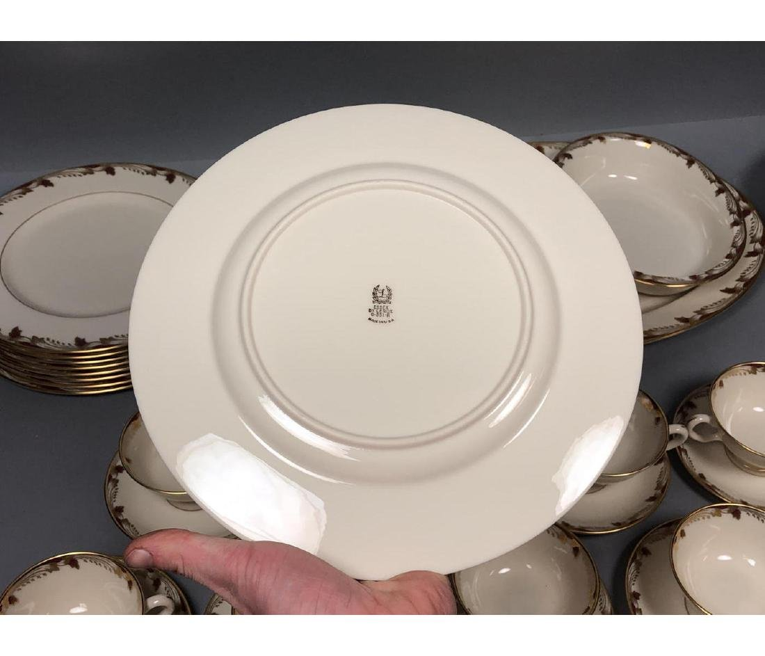 "48pc LENOX China Dinnerware Set. ""Essex"" Gold and - 5"
