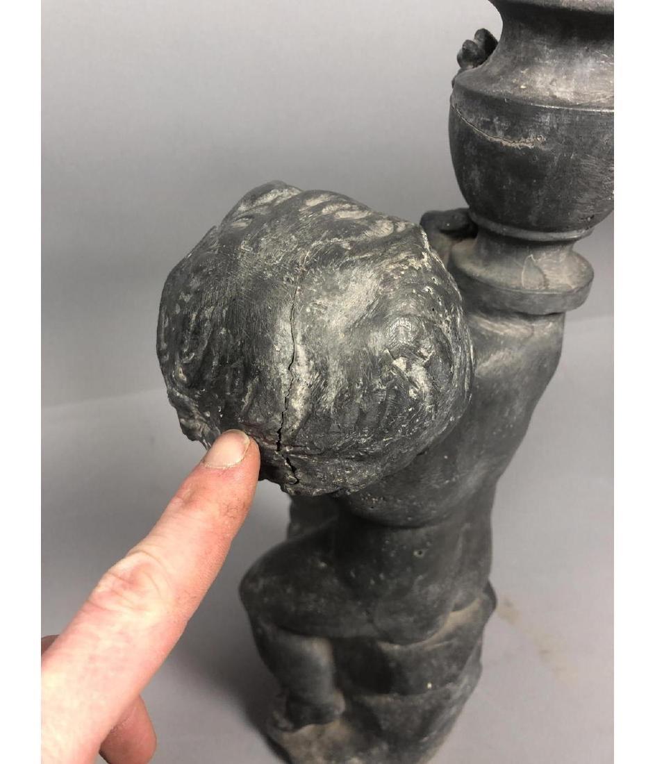 Zinc Figural Outdoor Sculpture Fountain. Boy with - 6