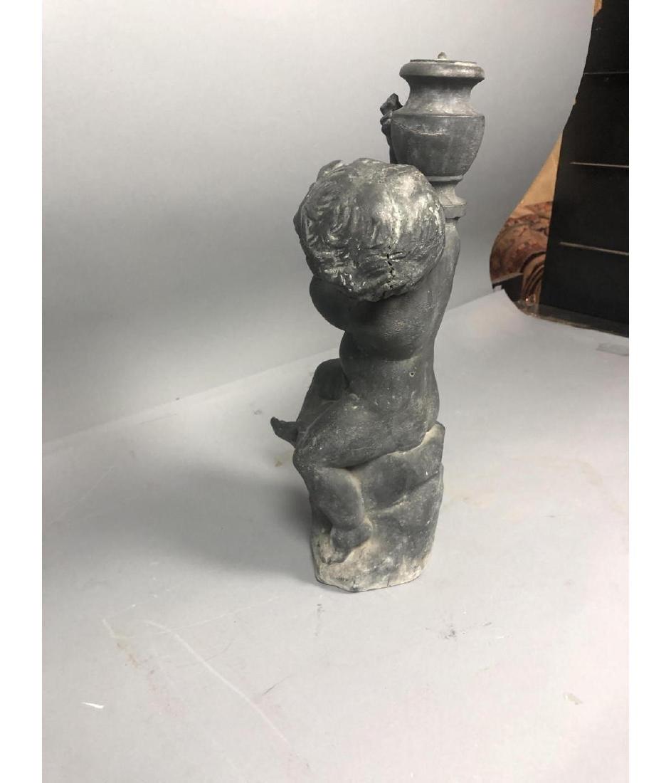 Zinc Figural Outdoor Sculpture Fountain. Boy with - 7
