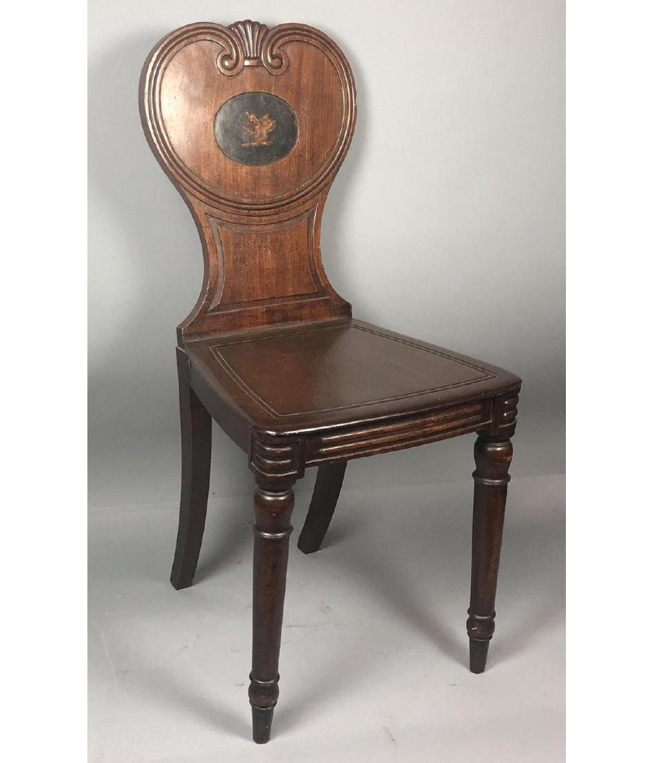 Antique Wood Side Chair. Scroll back with carved