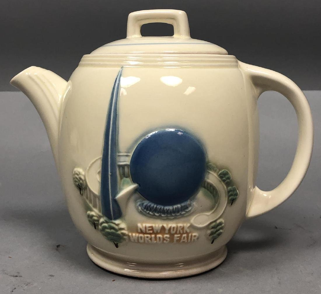 PORCELIER China 1939 NY Worlds Fair Teapot. NYWF.