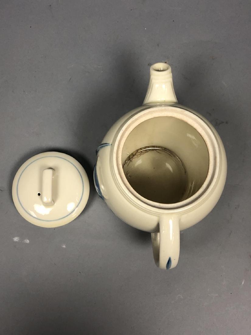 PORCELIER China 1939 NY Worlds Fair Teapot. NYWF. - 6