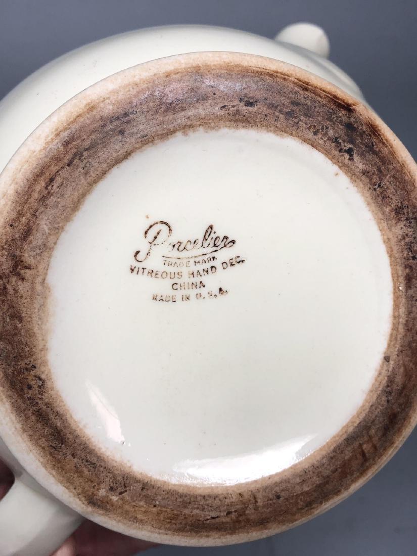 PORCELIER China 1939 NY Worlds Fair Teapot. NYWF. - 8