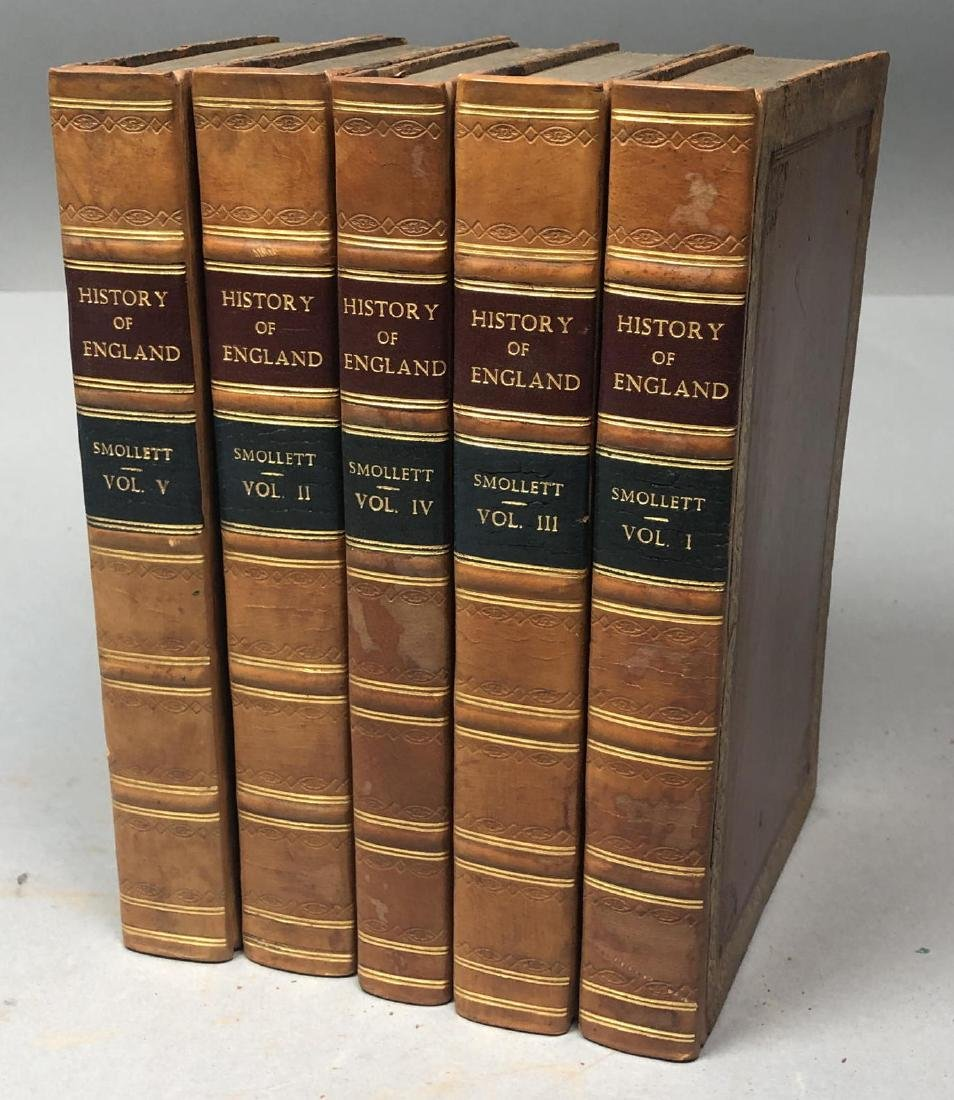 "5 Vols Books. SMOLLETT: ""History of England"" Vols"