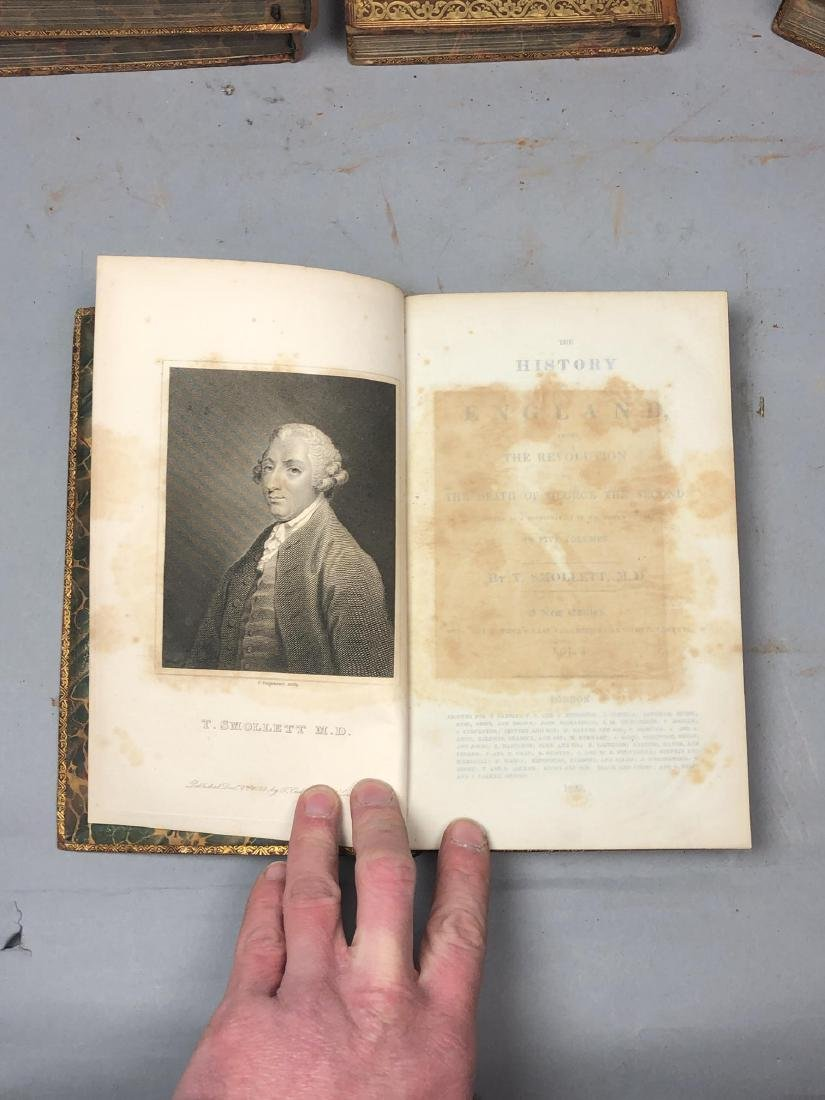 "5 Vols Books. SMOLLETT: ""History of England"" Vols - 5"