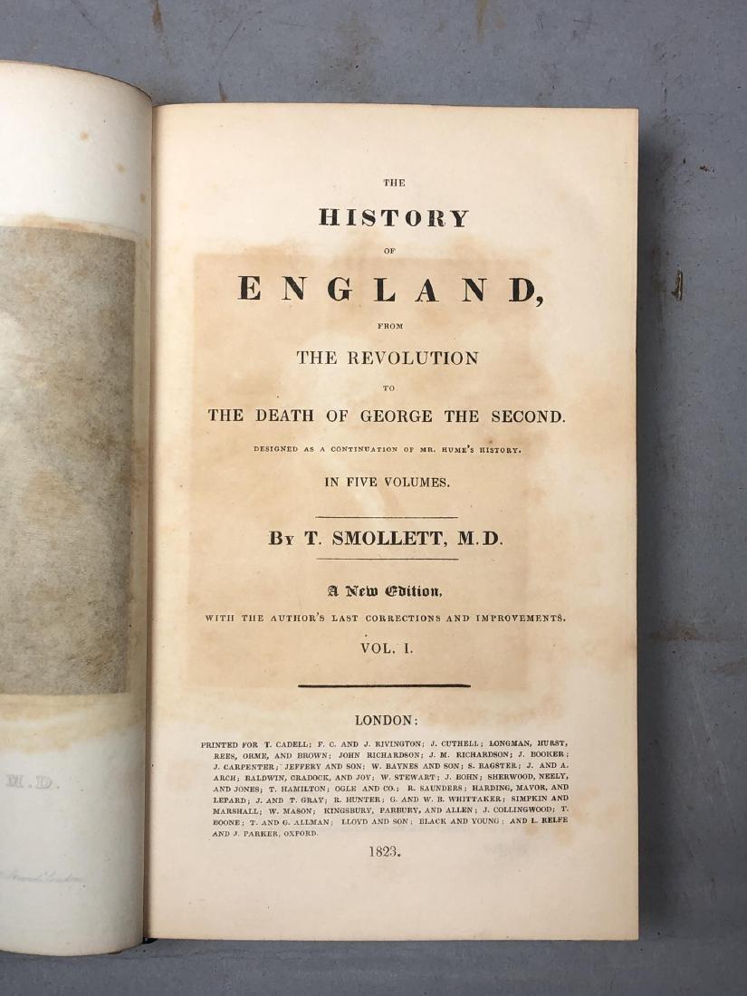 "5 Vols Books. SMOLLETT: ""History of England"" Vols - 6"