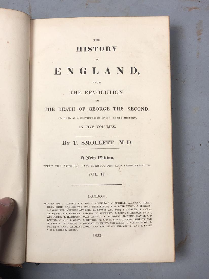 "5 Vols Books. SMOLLETT: ""History of England"" Vols - 9"