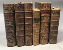 6pc 18th Century French Books Histoire dAlexan