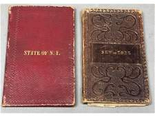 2 New York Pocket Maps - Mitchell, 1843 and Burr,