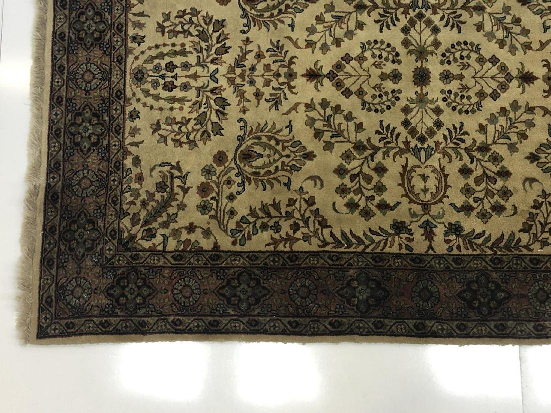 "6' x 4'1"" Thick Pile Wool Oriental Rug Carpet. Be - 2"