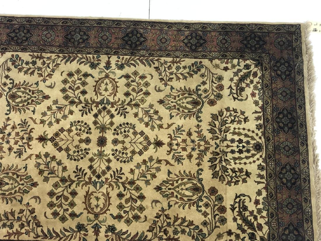 "6' x 4'1"" Thick Pile Wool Oriental Rug Carpet. Be - 4"