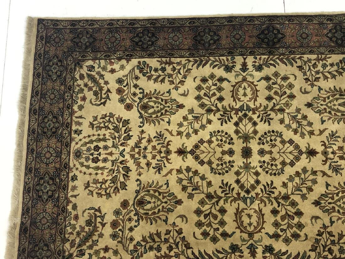 "6' x 4'1"" Thick Pile Wool Oriental Rug Carpet. Be - 5"