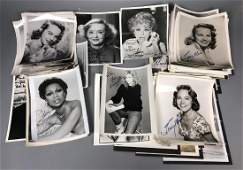 Collection of Autographed Vintage Celebrity Photo