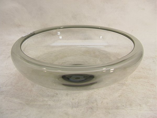 21: PER LUTKEN FOR HOLMEGAARD Signed Glass Bowl. Large