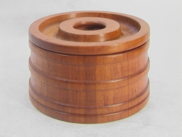 22: JENS QUISTGARD Danish DANSK Teak Ice Bucket. Ribbed