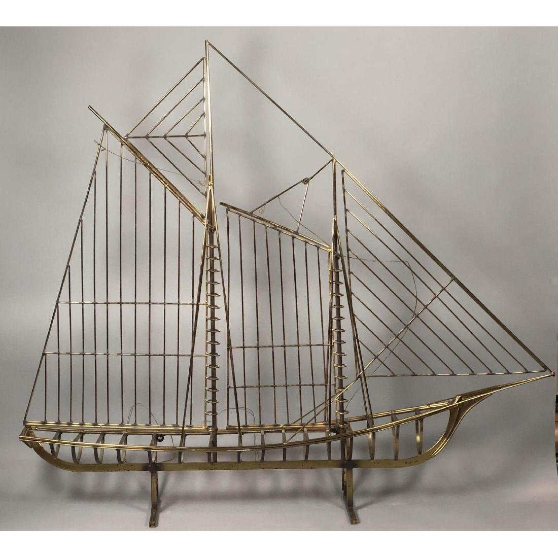 C JERE for ARTISAN HOUSE Large Figural Ship Sculp