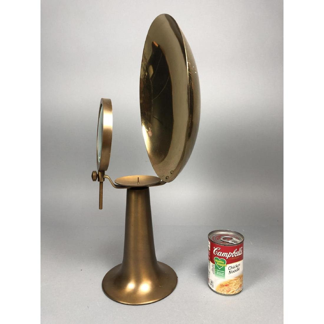 Stylish Modern Brass & Metal Industrial Candle St - 5