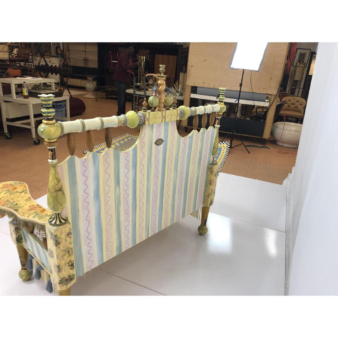 MACKENZIE CHILDS Handmade Painted Settee Couch. E - 5