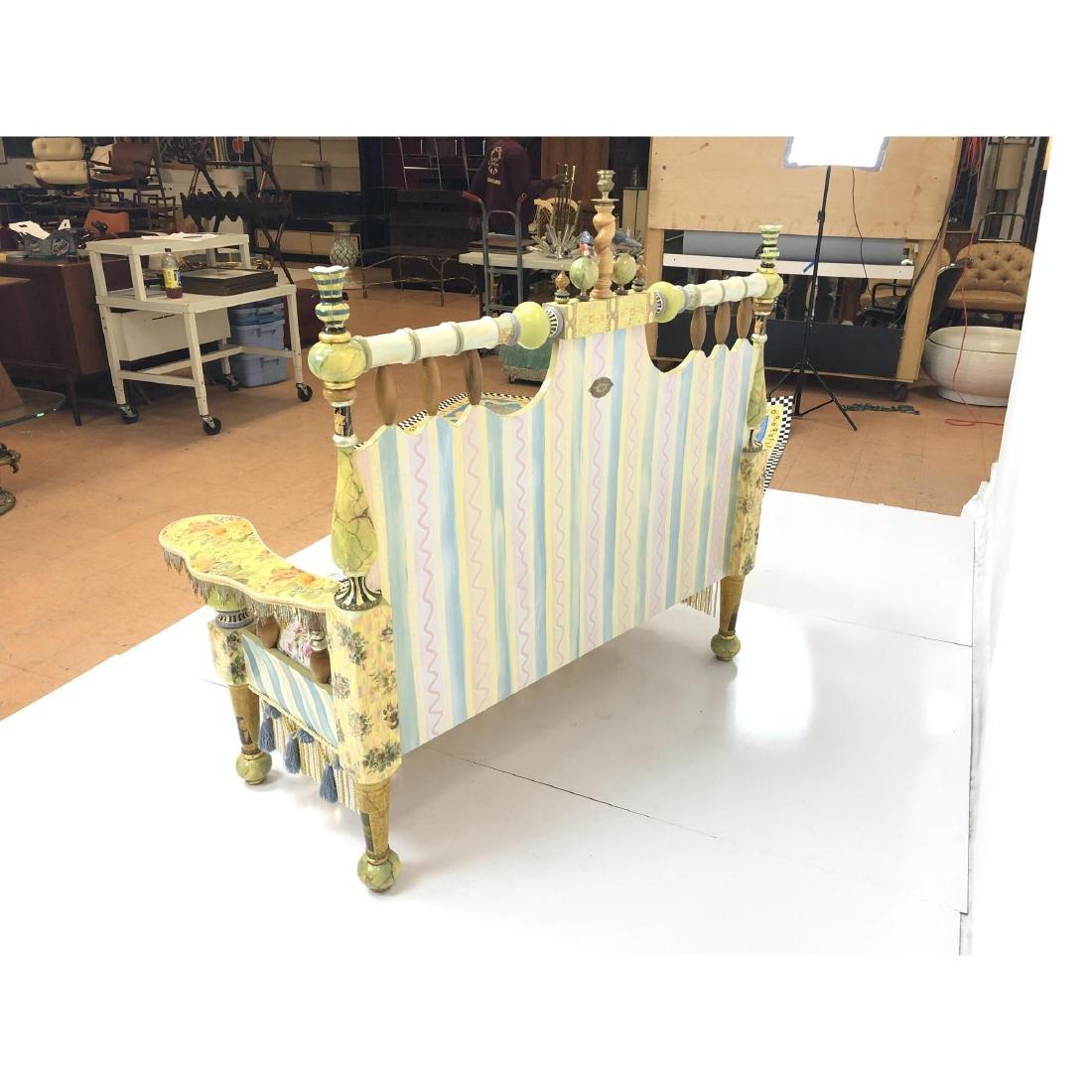 MACKENZIE CHILDS Handmade Painted Settee Couch. E - 6