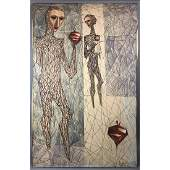 JACQUES DUNHAM Abstract Modernist Figural Paintin