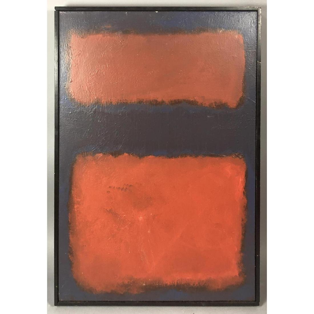 Mark Rothko Style Modernist Abstract Oil Painting