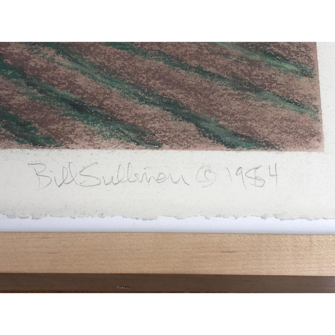 """BILL SULLIVAN Pastel on Paper 1984 """"THE SLEEPING - 3"""